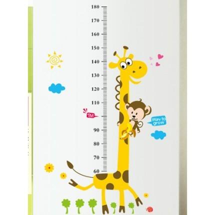 Интерьерная наклейка на стену ростомер жираф фото №1