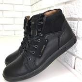 Натуральные кожаные зимние мужские ботинки на меху, код ех-2013