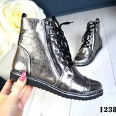 2 цвета!!! Новинка! женские кожаные ботинки код:КК1238
