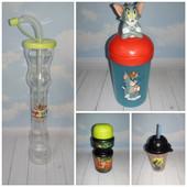 Детский стакан бутылочки бутылка поильник чашка с трубочкой для деток малышей