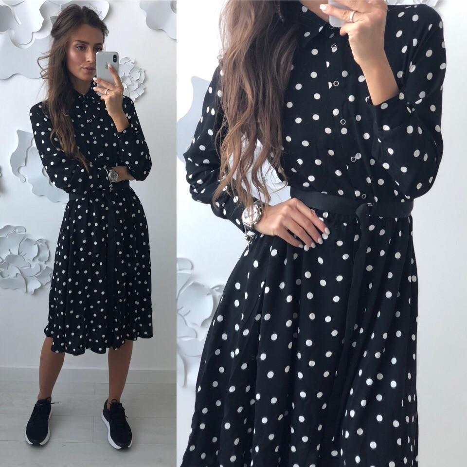 Красивое платье -рубашка лд-702 фото №9