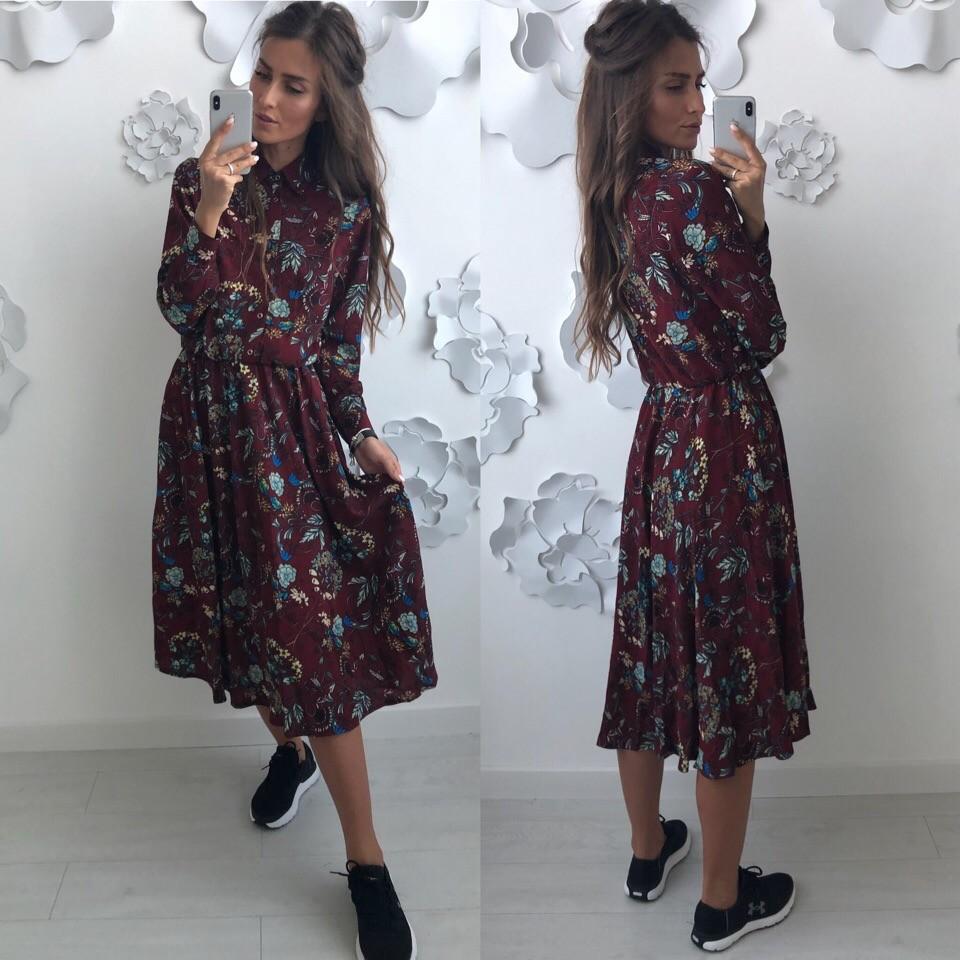Красивое платье -рубашка лд-702 фото №1