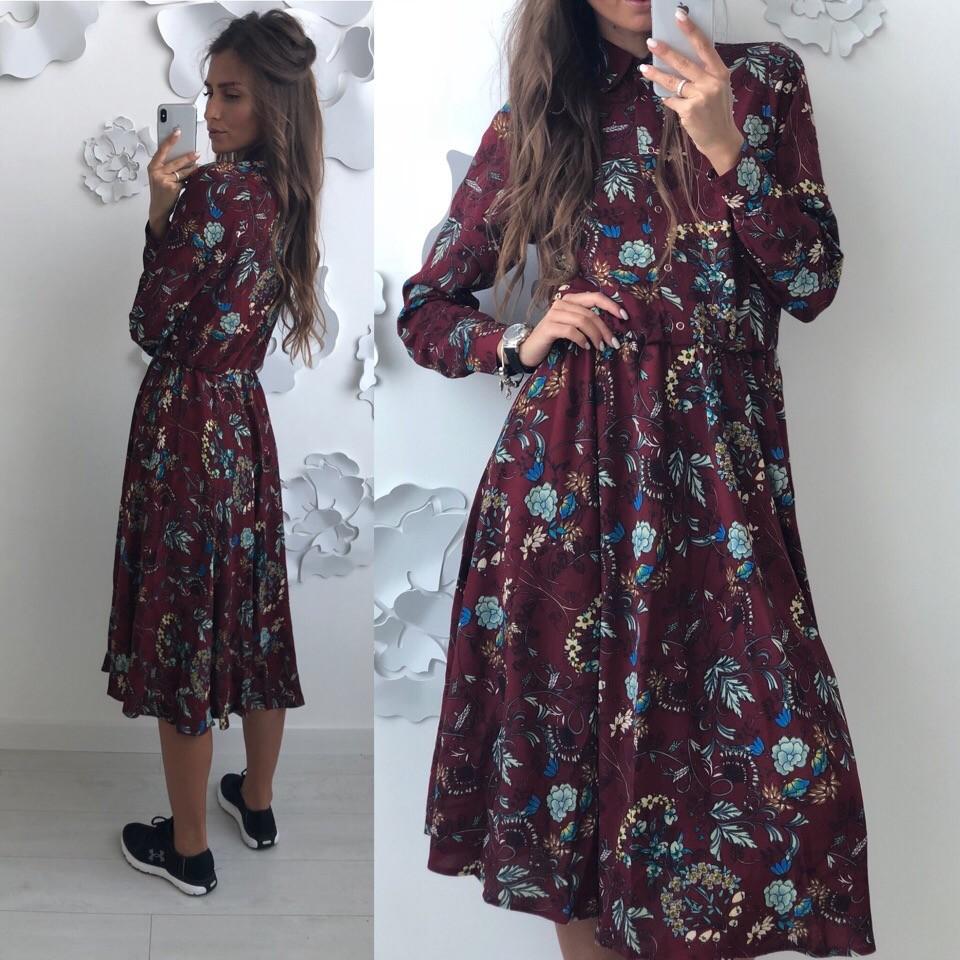 Красивое платье -рубашка лд-702 фото №3