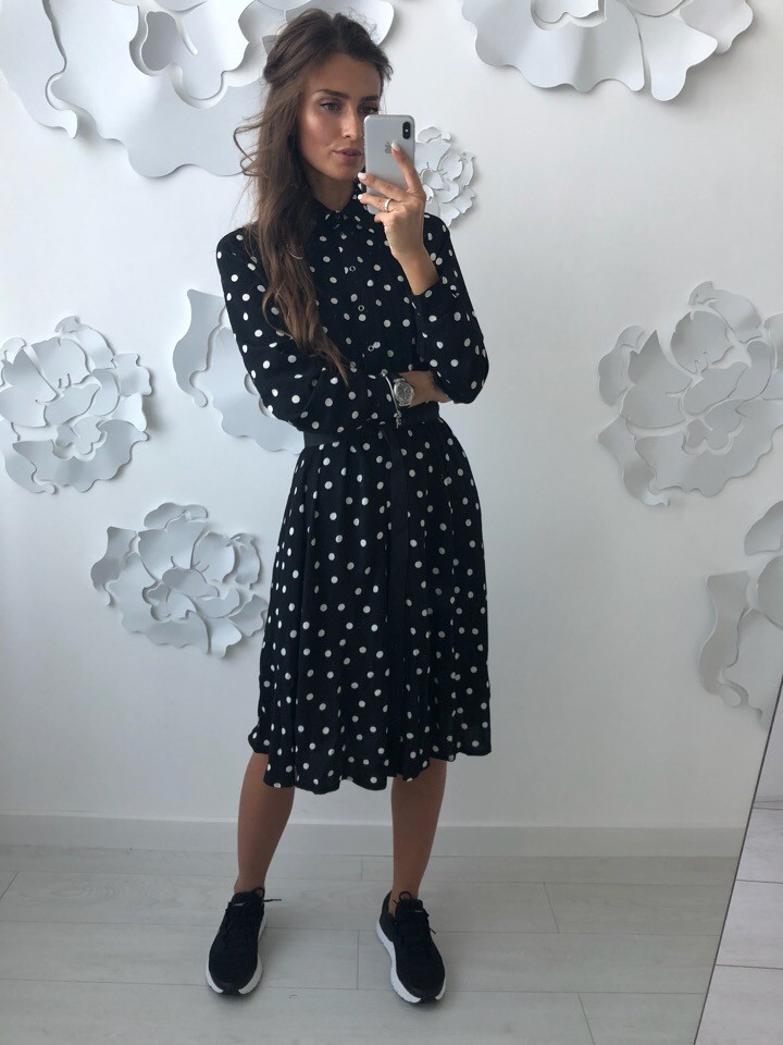 Красивое платье -рубашка лд-702 фото №5