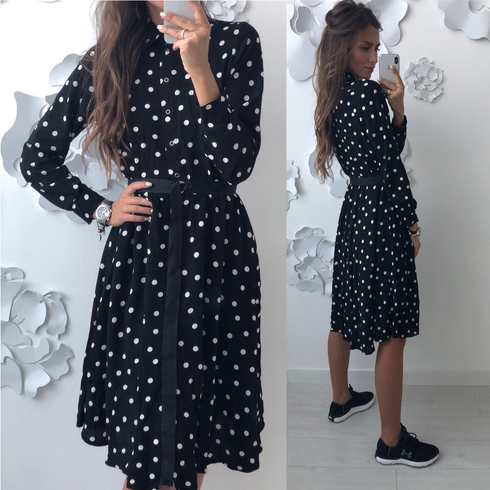 Красивое платье -рубашка лд-702 фото №7