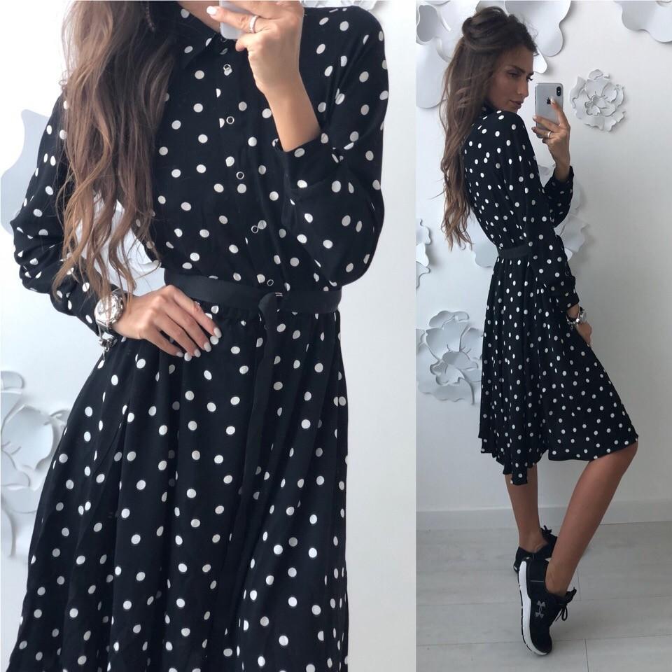 Красивое платье -рубашка лд-702 фото №8