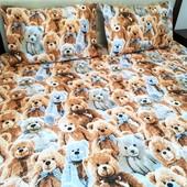 Медвежата! Оригинальный! постельный комплект в детскую кроватку!
