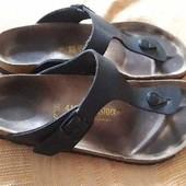 Кожаные фирменные шлёпанцы вьетнамки Birkenstock р.41-26.5см