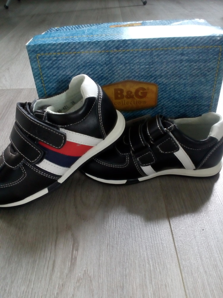 Кожаные кроссовки b&g фото №1