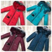 Теплое зимнее пальто с натуральной опушкой, новинка