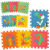 М 0386 Развивающий коврик пазл - мозаика растения м0386