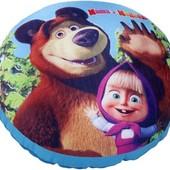 Подушка Маша и Медведь от  СмолТойс наполнитель шарики круглая квадратная