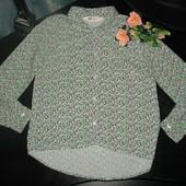 классная рубашка H&M 9-10 лет 100% вискоза как новая