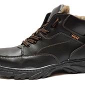 Ботинки зимние мужские черные с прошитой подошвой (СБ-05-К)