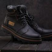 Мужские зимние ботинки Riccone black 315W-M1