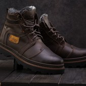 Мужские зимние ботинки Riccone brown 315W-M1