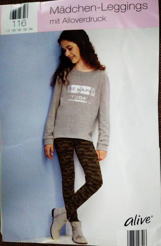 Лосины ,штаны, девочка, хлопок, германия , alive, рост 116 фото №1