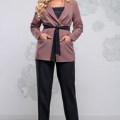 Красивый стильный костюм 1028 до 54 размера