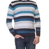 мужской свитер LC Waikiki / ЛС Вайкики в серо-бело-синие полосы
