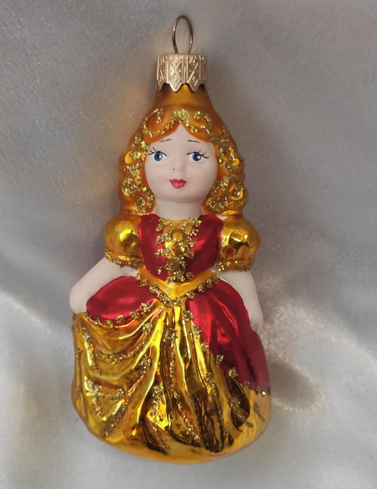 Стеклянная игрушка принцесса фото №1