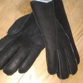 зимние кожаные перчатки на толстом меху.Boccaccio/германия.распаковка