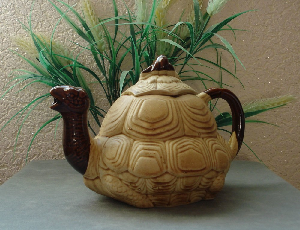 Керамический чайник черепашка фото №1