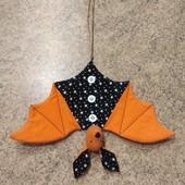 Текстильная игрушка, декор, амулет - Летучая Мышь, ручная работа