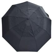 Зонт черный с клапаном 307W (полуавтомат)