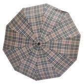 Зонт кофейная клетка 302P-03 (полуавтомат)