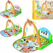 Развивающий Коврик - пианино для младенца HX 9124-25-26 A, музыка, подвески игрушки