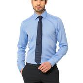 мужская рубашка голубая LC Waikiki
