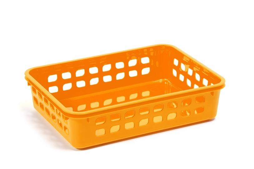 Корзинка пластиковая №3 желтая 03 ламела 273 фото №1