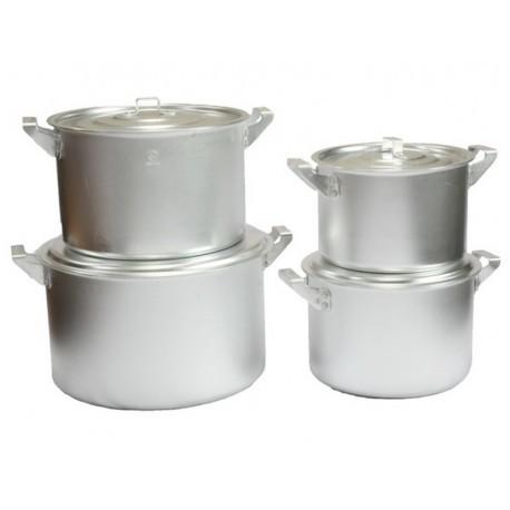Набор алюминиевых цилиндрических кастрюль 4 предмета китай-алюминий фото №1