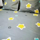 Звездочки! Простыня на резинке в детскую кроватку