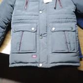 Зимняя куртка пуховик для мальчика 116-164