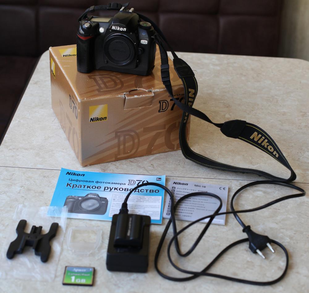 Фотоаппарат nikon d70 с объективом sigma 18-125 mm, f3,5-5,6 dc фото №1