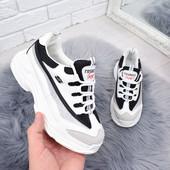 Кроссовки белый+черный
