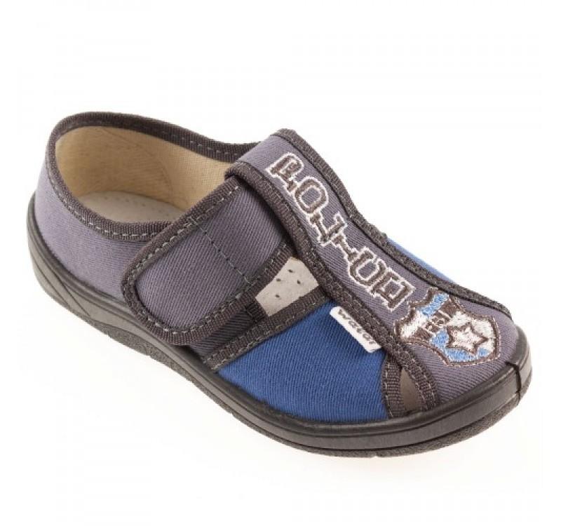 Мокасины waldi 24, 25, 26, 27, 29(р) синий 37a-40a-557 тапочки waldi изготовлены из натуральных фото №1