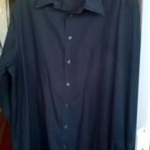 Рубашка черная, новая, Walbusch Германия 4XL