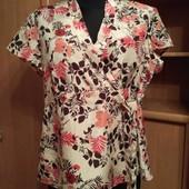 Летняя шелковая Блуза из натурального шелка 16р