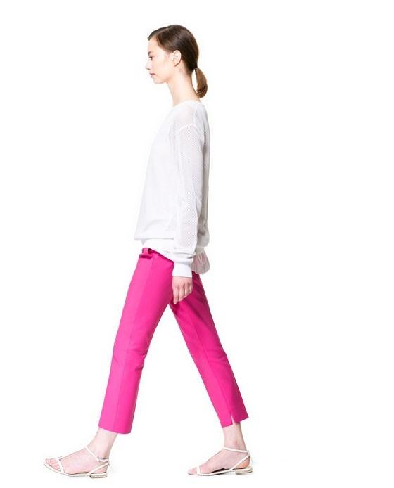 Яркие брюки zara (с) фото №1
