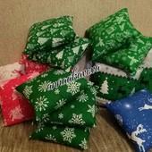 Подушка новогодняя, декоративная подушка, новорічні подушки