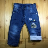 Детские утепленные джинсы на травке для девочки рр. 80 Beebaby (Бибеби)