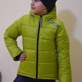 Детская зимняя курточка,  синтепон  300 г/м, флис, рост от 116 до 140, в наличии