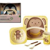 Бамбуковая посуда для детей, эко набор на 5 предметов, Германия
