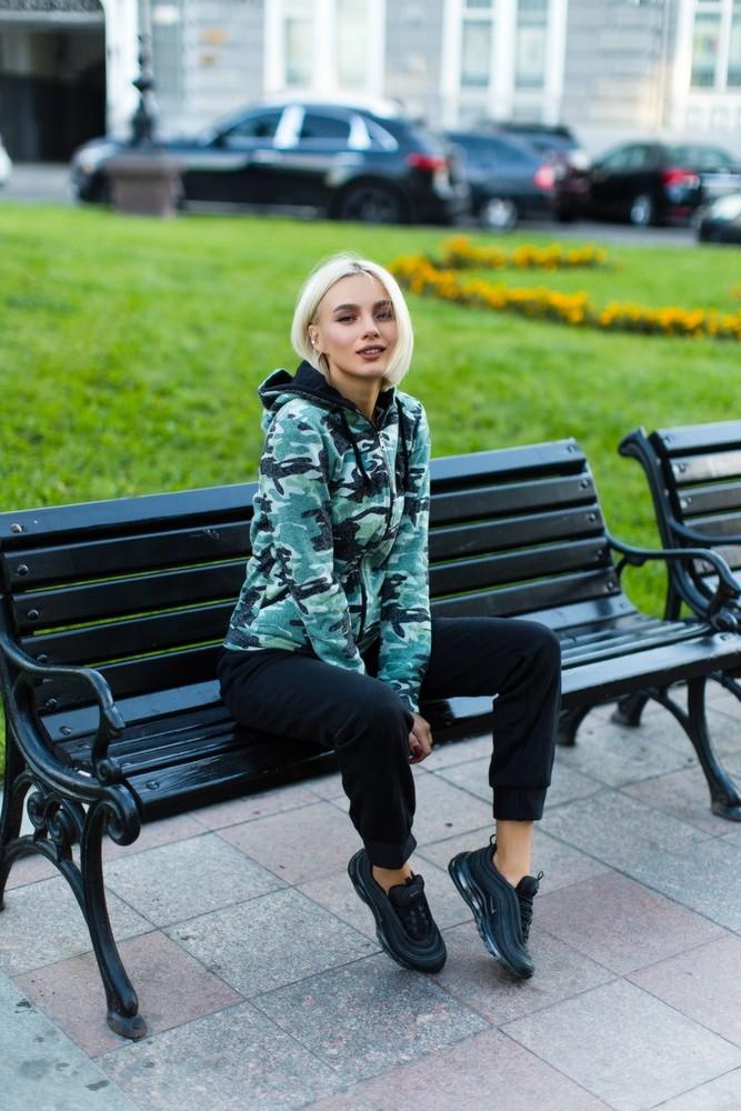 Женский теплый трикотажный костюм фото №1