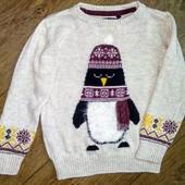 Свитер пингвин Tu на 3-4года(98-104см)