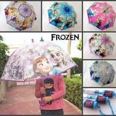 Зонт зонтик для девочки 4- 6 лет Холодное сердце Анна Ельза поливинил