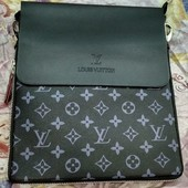 Мужская сумка через плечо Louis Vuitton (чёрная)