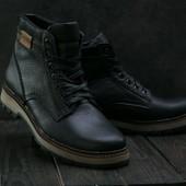 Мужские кожаные зимние ботинки Ecco, gavk-B-25W-M1